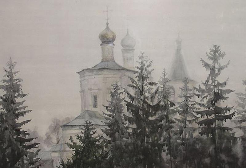 "Картина ""Солотчинский монастырь"""