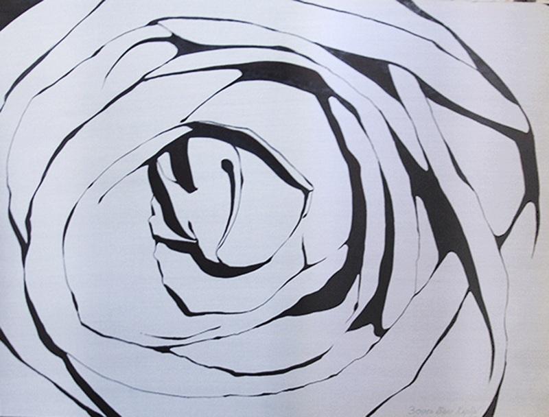 """Работа """"Белый цветок"""""""